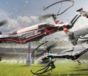 Kyoshos Racer Drohne fliegt parallel zum Boden