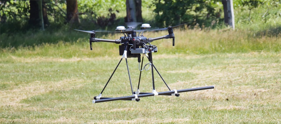 Kampfmittelsuche per Drohne – zu Gast bei SeaTerra vor den Toren Hamburgs