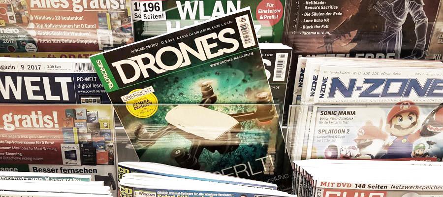 Drones-Ausgabe 5/2017 jetzt am Kiosk erhältlich